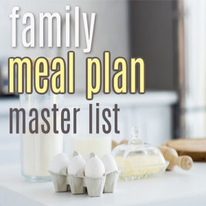 how to meal plan,meal list,simple meal planning