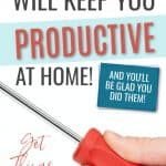 12 things to be productive, hand holding screwdriver