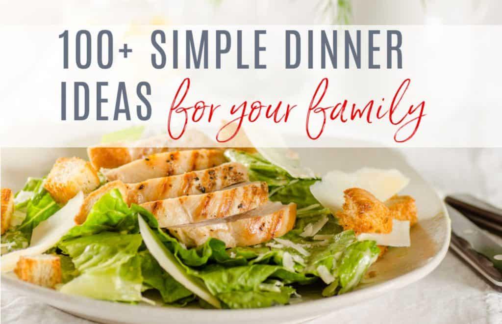 chicken on lettuce, dinner ideas