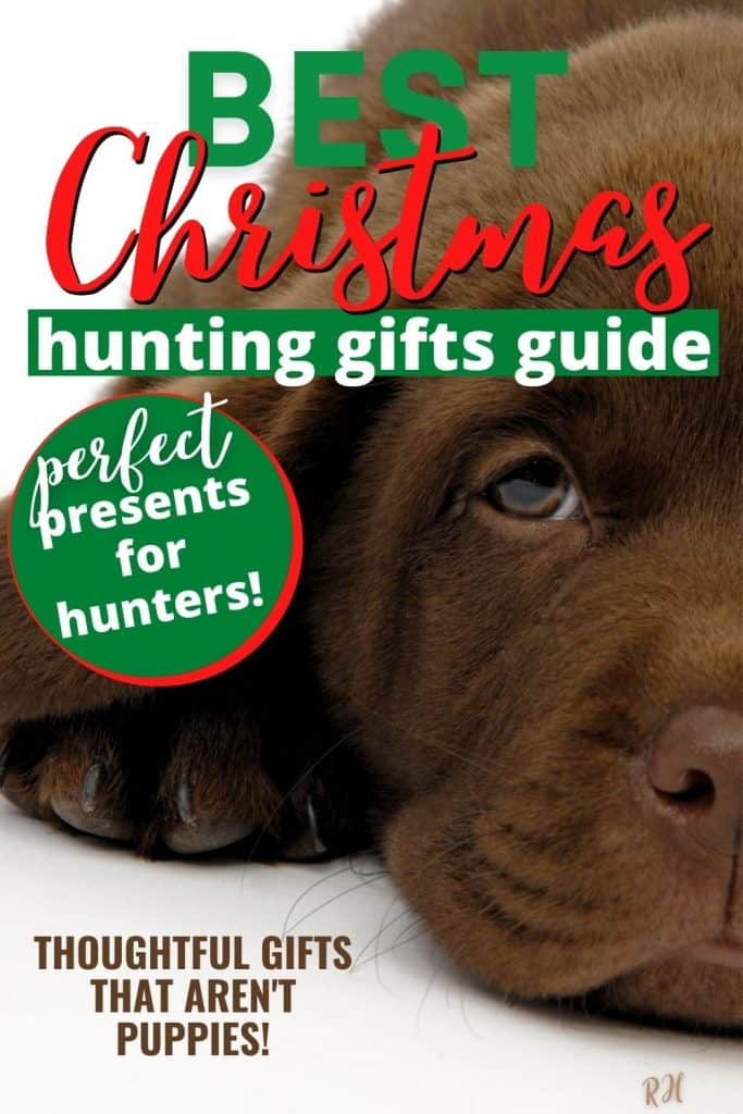 brown lab puppy face and paws, hunting gift guide