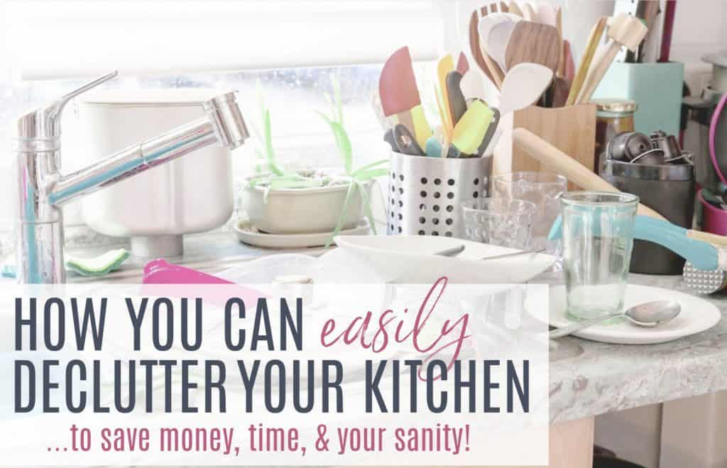 white kitchen sink, silver faucet, cluttered countertops